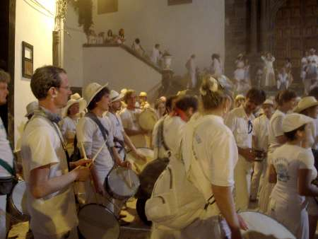 Batucada (percussion) in Santa Cruz de la Palma, Los Indianos